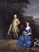 Peter Tillemans Master Edward and Miss Mary Macro oil painting