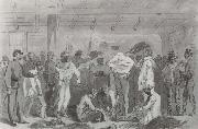 William Waud Returned Prisoners of War Exchanging oil painting