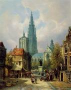 unknow artist European city landscape, street landsacpe, construction, frontstore, building and architecture. 321 oil painting reproduction