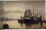 unknow artist Seascape, boats, ships and warships. 122 oil painting reproduction