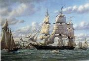 unknow artist Seascape, boats, ships and warships. 118 oil painting reproduction