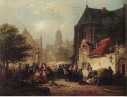 unknow artist European city landscape, street landsacpe, construction, frontstore, building and architecture. 094 oil painting reproduction