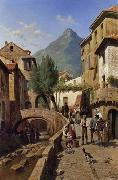 unknow artist European city landscape, street landsacpe, construction, frontstore, building and architecture. 086 oil painting reproduction
