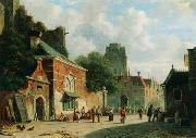 unknow artist European city landscape, street landsacpe, construction, frontstore, building and architecture. 324 oil painting reproduction