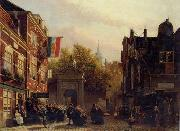 unknow artist European city landscape, street landsacpe, construction, frontstore, building and architecture. 290 oil painting reproduction
