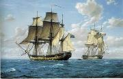 unknow artist Seascape, boats, ships and warships. 106 oil painting reproduction