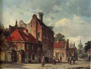 unknow artist European city landscape, street landsacpe, construction, frontstore, building and architecture. 095 oil painting reproduction