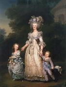 Adolf-Ulrik Wertmuller Queen Mary Antoinette with sina tva baby in Triangle park oil painting