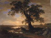 Asher Brown Durand The Solitary oak oil painting