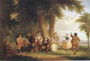 Asher Brown Durand Dance on the battery in the Presence of Peter Stuyvesant oil painting