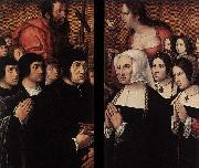 Barend van Orley Haneton Triptych oil painting