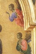 Duccio di Buoninsegna Detail of The Virgin Mary and angel predictor,Saint oil painting
