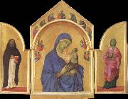 Duccio di Buoninsegna The Virgin Mary and angel predictor,Saint oil painting