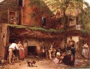 Eastman Johnson Negro life at the South oil painting