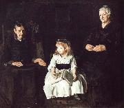 George Wesley Bellows Jan  Ailino and Anna oil painting