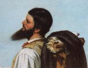 Gustave Courbet Detail of encounter oil painting reproduction
