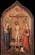 MASTER of Saint Veronica The Man of Sorrow with the Virgin and St Catherine oil painting