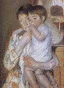 Mary Cassatt Child  in mother-s arm oil painting reproduction