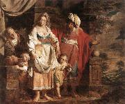 VERHAGHEN, Pieter Jozef Hagar and Ishmael Banished by Abraham oil painting reproduction