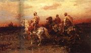 Adolf Schreyer Arab Horsemen on the March oil painting