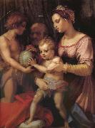 Andrea del Sarto Holy family and younger John oil painting reproduction