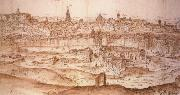 Anton van den Wyngaerde View of Toledo oil painting