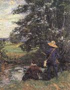 Armand guillaumin The Fishermen oil painting reproduction
