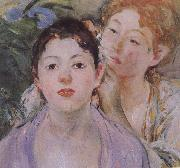 Berthe Morisot Detail of Embroider oil painting reproduction