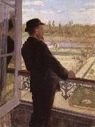 Christian Krohg Portrait of the Artist Karl Nordstrom at Grez oil painting