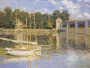 Claude Monet The Bridge at Argenteujil oil painting reproduction