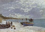 Claude Monet The Beach at Saint-Adresse oil painting reproduction