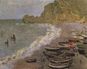 Claude Monet The Beach at Etretat oil painting reproduction