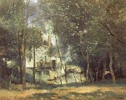 Corot Camille The Mill at Saint-Nicolas-les-Arras oil painting reproduction