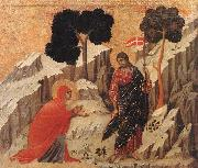 Duccio di Buoninsegna Appearence to Mary Magdalene oil painting