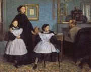 Edgar Degas The Belleli Family oil painting reproduction