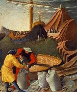 Fra Angelico St Nicholas saves the ship oil painting