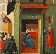 Fra Angelico Giving Dowry to Three Poor Girls oil painting