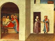 Fra Angelico The Healing of Palladia by Saint Cosmas and Saint Damian oil painting