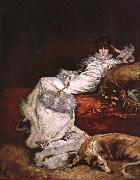 Georges Clairin Sarah Bernhardt oil painting