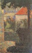 Georges Seurat Houses at Le Raincy oil painting reproduction