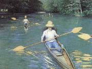 Gustave Caillebotte Bathers about to Dive into the Yerres oil painting reproduction