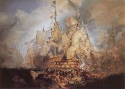 J.M.W. Turner The Battle of Trafalgar oil painting reproduction
