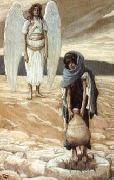 James Tissot Hagar and the Angel in the Desert oil painting reproduction