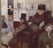 Jean-Louis Forain In the  Cafe oil painting