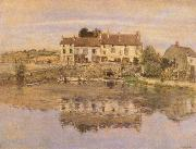 Jean-francois raffaelli House on the Banks of the Oise oil painting reproduction