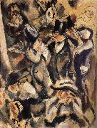 Jules Pascin People at the table in the Dance hall oil painting reproduction