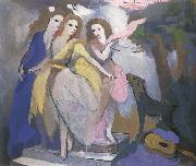 Marie Laurencin Three dancer oil painting