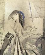 Marie Laurencin Self-Portrait of play piano oil painting