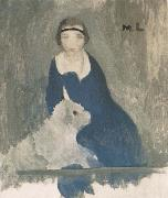 Marie Laurencin Asijici and dog oil painting