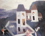 Marie Laurencin Castle  in the dark oil painting